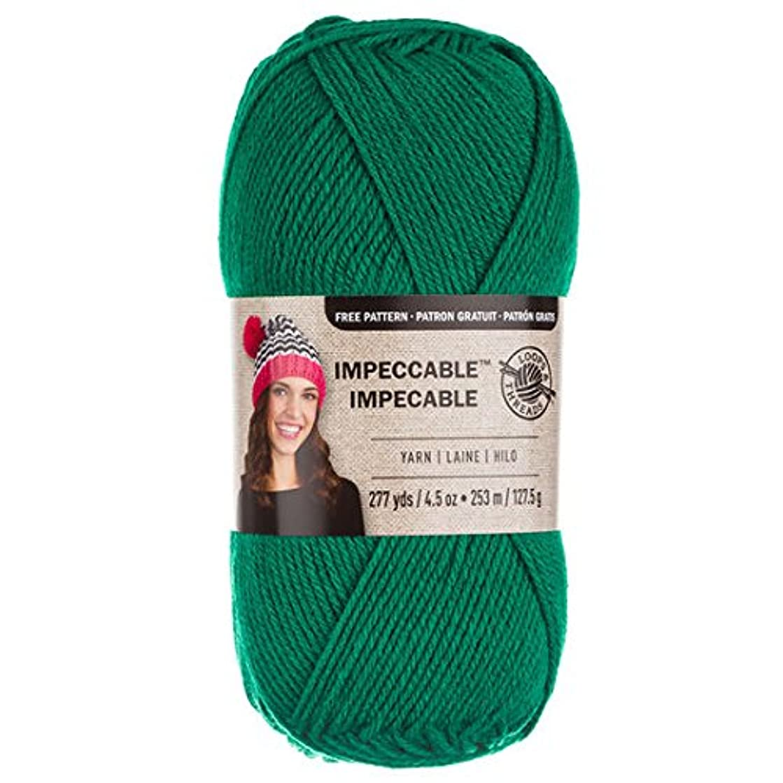 Loops & Threads Impeccable Yarn 4.5 oz. One Ball - Kelly Green