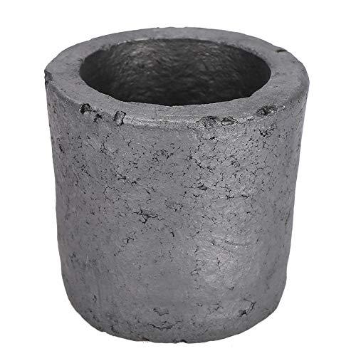 Bewinner 1 kg de crisol, Forma de Copa, carburo de silicio, Grafito, Horno, fundición, Herramienta de fusión de crisol, Utilizado para fundir Metales Preciosos como Oro y Plata