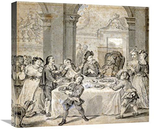Global Gallery Lienzo Decorativo con ilustración para Don quijote, 22 x 20 cm.