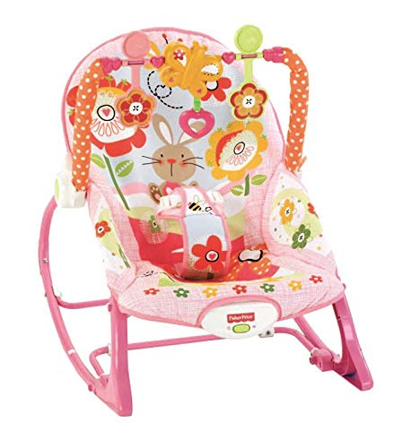Fisher-Price - Hamaca crece conmigo, conejitos divertidos, color rosa (Mattel...