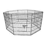 Oypla Medium Folding Pet Dog Rabbit Run Play Pen Cage Enclosure Fence