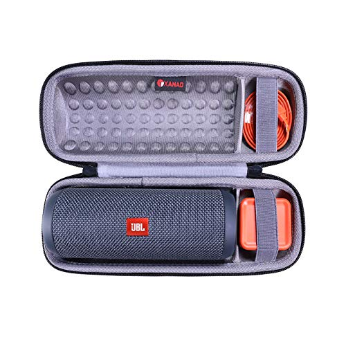XANAD Estuche rígido de Viaje para JBL Flip Essential/JBL Flip 4 / JBL Flip 3 Altavoz inalámbrico portátil con Bluetooth - Bolsa Protectora de Almacenamiento (Gris)