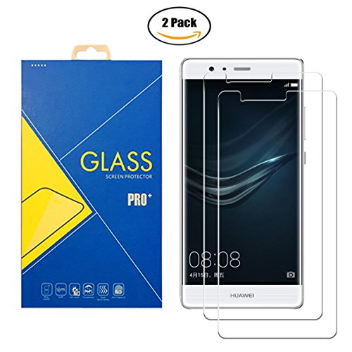 [2 Pack] Protector Cristal Vidrio Templado Huawei P9 Plus VIE-L09 – Pantalla Antigolpes y Resistente al Rayado