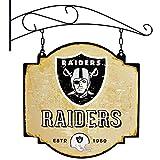 Winning Streak Sports NFL Oakland Raiders Tavern Sign - Hanging Metal Wall Decor Bar Sign for Sports Fans