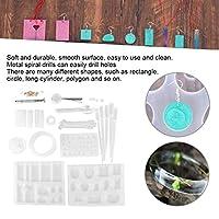 DIYシリコーンシリコーン鋳造金型、エポキシ金型セット、金属ネックレスペンダント製造ツール手工芸品用ジュエリー