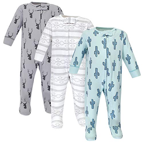 Yoga Sprout Unisex Baby Cotton Zipper Sleep and Play, Cactus, 3-6 Months