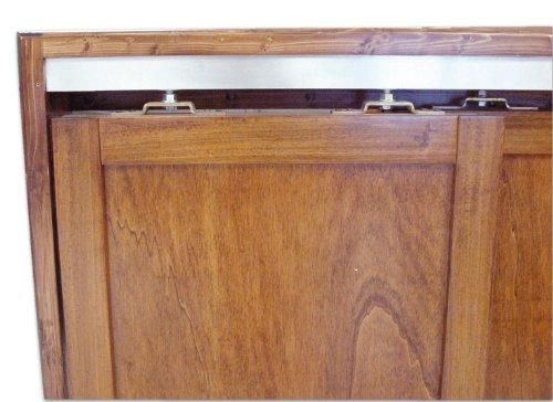 Binario per porta scorrevole completo di accessori misura 150 cm portata 40 kg