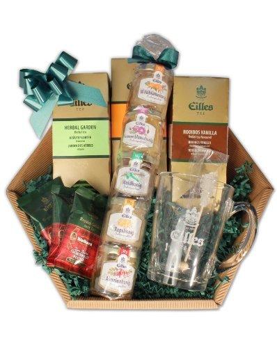 EILLES Tee Geschenkkorb mit Teeglas und feinstem Honig