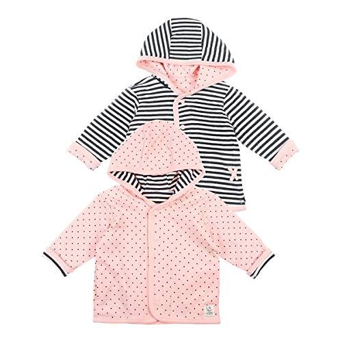 Feetje Wendejacke mit Kapuze Ringel Punkte veste bébé vêtements bébé, anthracite/rose