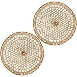 OSALADI 2 Piezas de Sombra de Lámpara de Bambú con Forma de Sombrero Oriental Lámpara de Mimbre Fundas Tejidas para Lámpara de Techo de Pared de Mesa