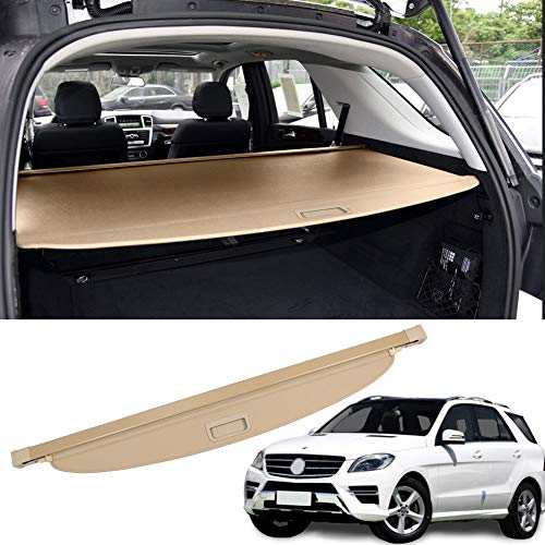 MarretooCargoCoverFactory Stylefor Mercedes Benz ML350 Accessories 2012-2015 GLE 2016-2019 Beige Retractable Trunk Security Shield Shade