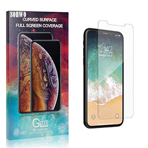 SONWO Schutzfolie für iPhone 11 Pro, 1 Stück Schutzfolie Kompatibel mit iPhone 11 Pro, Panzerglasfolie, Panzerfolie, Glas Folie