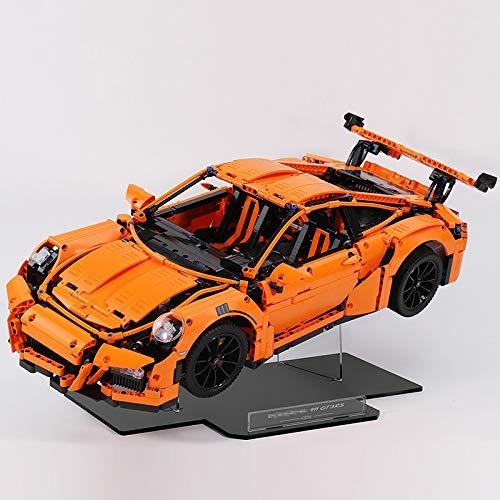 HYZM Soporte de pantalla para Lego Technic Porsche 911 GT3 RS, soporte acrílico para vitrina compatible con Lego 42056 (solo soporte de pantalla)