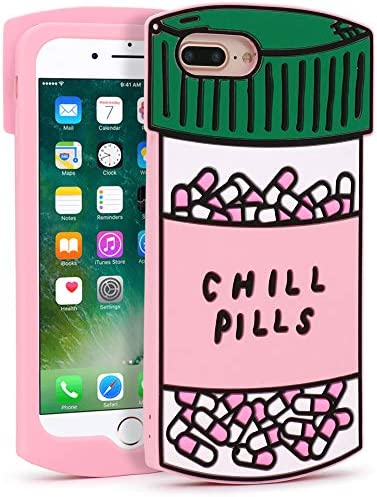 Yonocosta iPhone 7 Plus Case iPhone 8 Plus Cases Cute Funny 3D Cartoon Chill Pills Bottle Shaped product image