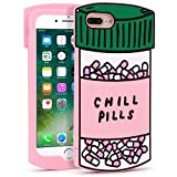 YONOCOSTA iPhone 7 Plus Case, iPhone 8 Plus Cases, Cute Funny 3D Cartoon Chill Pills Bottle Shaped Soft Silicone Rubber Shockproof Case Cover for iPhone 7 Plus / 8 Plus (5.5' Inch) (Pills)