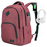LOVEVOOK 17 Inch Laptop Backpack, Water Resistant Travel Backpacks for Women Men, College School Backpack Student Bookbag