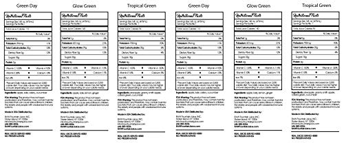 Raw Fountain 5 Day Green Juice Cleanse, All Natural Raw, Vegan Detox, Cold Pressed Juices, 30 Bottles 16oz, 5 Ginger Shots 5