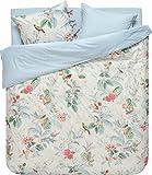 PIP Studio Floris - Juego de cama, color caqui, 100 % algodón, Blanco, 200 x 200+2 x 80 x 80