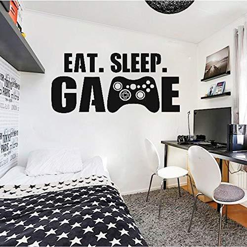Juego de personalidad calcomanías de pared arte pegatinas de pared decoración del hogar niño habitación de niños comiendo y durmiendo juego pegatinas de pared
