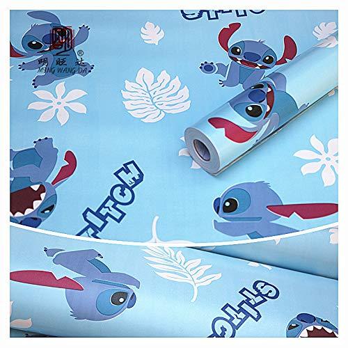 Zelfklevende behang slaapkamer kinderen Cartoon decoratieve schilderij woonkamer muur Sticker 45cm*10m Wallpaper-16