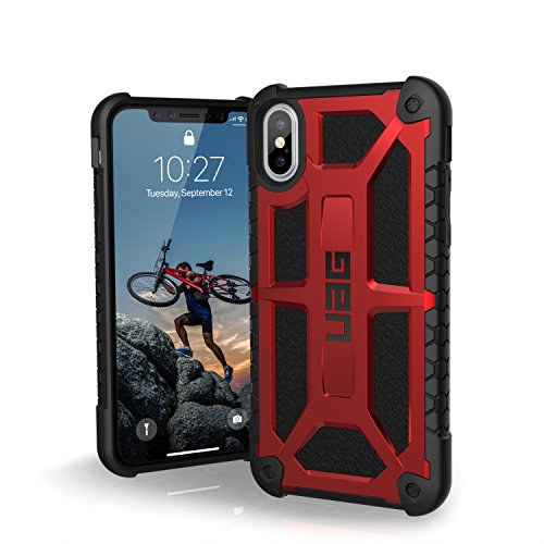 UAG iPhone XS/X Monarch Feather-Light Rugged [CRIMSON] Military Drop Tested iPhone Case