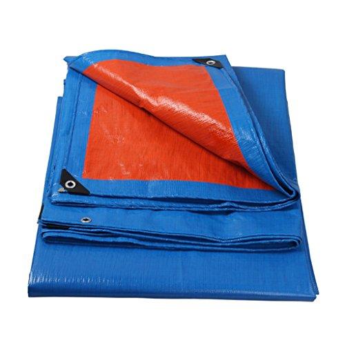 ZZYE Lona Tarp Impermeable: Resistente a la UV, Resistente, pudrición, rasgón y desgarro a Prueba de la Lona con Ojales y Bordes Reforzados, Azul/Naranja, Grosor 0,25 mm, 140 g/m² Lona Impermeable