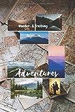 Adventures | Wander- und Trekking Tagebuch: Wandertagebuch, Wanderlogbuch, Tagebuch für den Wanderer, Stempelbuch, Logbuch, A5 Softcover, ... Wandern mit Kindern, Mit Fahrrad oder zu Fuß
