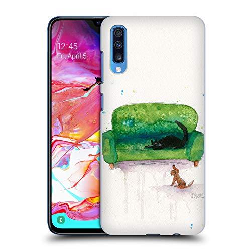 Head Case Designs Offizielle Zugelassen Wyanne Couch Cat and Dog Tiere 2 Harte Rueckseiten Handyhülle Hülle Huelle kompatibel mit Samsung Galaxy A70 (2019)