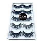20mm 3D Mink Lashes Fake Eyelashes Soft and Dramatic Thick Long Lashes False Eyelashes Pack 5 Paris