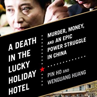 A Death in the Lucky Holiday Hotel audiobook cover art