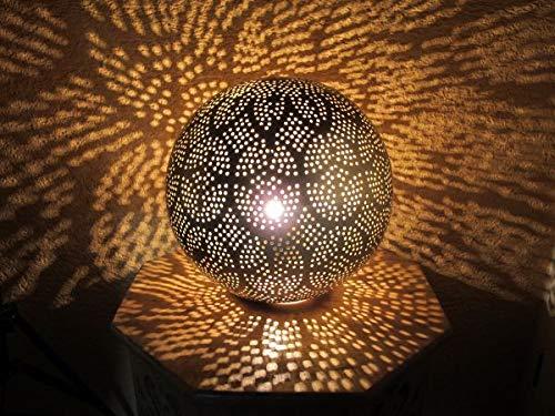 Orientalische Indische Messing Stehlampe Tara Gold