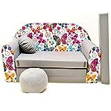 Kindersofa Spielsofa Minicouch aus Schaum Kindersessel Kissen Matratze Farbwahl (43)