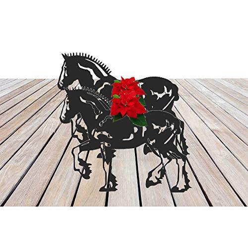 Stalen beelden Shire Paard Gevlochten Tuinplant