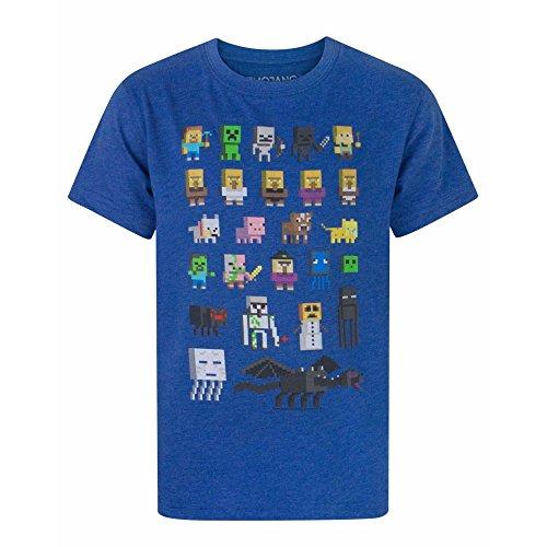 Minecraft - Camiseta para niño - Minecraft - Azul - 6 - 7 Años