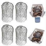 Leyeet - Filtro para canalones, protector extensible de canalón, 7,6 cm, filtro de hojas, herramienta útil (4 unidades)