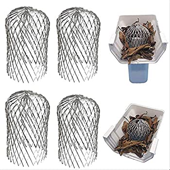 Queen.Y Leaf Filter,4pcs Gutter Guard 3Inch Expandable Gutter Strainer Mesh Gutter Downspout Guard for Stopping Blockage Leaves Debris