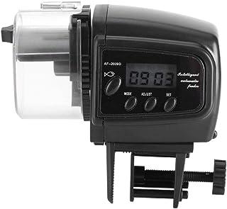 Yosoo Alimentador Automático de Pescado Acuario Alimentador Automático de Alimentos para Peces Máquina LCD Alimentador Electrónico de Pescado para Tanque de Acuario