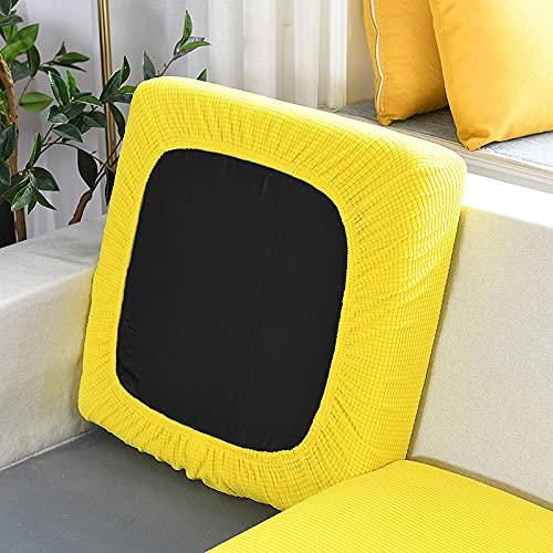 JXYLJJ Sofabezug, Stretch Sofa Bezüge, Sofa Abdeckung, Jacquard Couchüberwurf, Maschinenwaschbar, 4-Sitzer, Für L-Form Schnittcouch (Gelb,Großer 1-Sitzer)