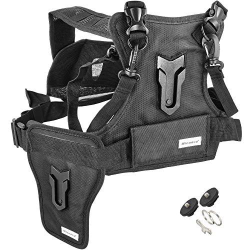 Minadax® MQ-MSP01 Professioneel universeel camera-harnasgordel camera-servies vest voor evenementen, fotografen en reporter, met reinigingsdoekje, tot 15 kg belastbaar