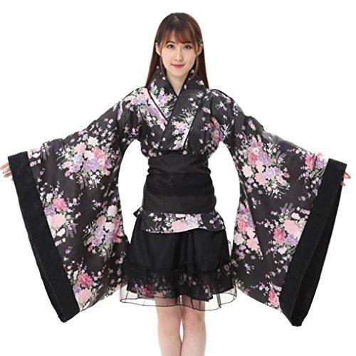 Zarupeng dames Festival Cosplay Lolita Japan Kimono Maid Outfit Rok jurk Set