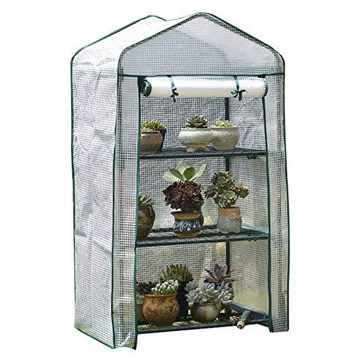 HWLL Cubierta de Plantas para el Invierno, Invernadero de plástico Impermeable para Exteriores e Interiores, Cubierta de casa Verde de jardín portátil (Color : Style-2)
