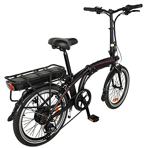 E-Bike Fahrrad 20 Zoll, City Ebike Klapprad 250W Getriebe Elektro Bike Mit 36V 10Ah Herausnehmbarer Lithium-Akku 25 km/h Reichweite 50 km,7 Gang Schnell-Ladegert for Zur Schule gehen