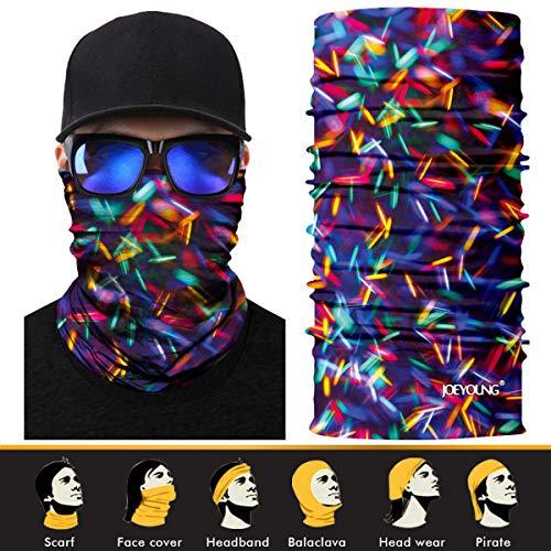 JOEYOUNG 3D-Gesichts-Sonnenmaske, Halstuch, Kopfbedeckung, Magischer Schal, Sturmhaube, Bandana, Stirnband, Angeln, Jagd, Hof, Arbeit, Laufen, Motorrad, UV-Schutz, ideal für Männer und Frauen