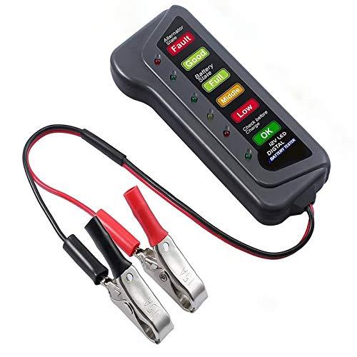 RUIZHI Tester Batteria Auto 12V Analizzatore di Batterie Digitali Strumento Diagnostico con Display a LED Battery Tester per Auto e Moto