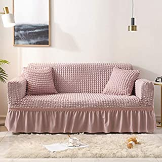 Sofa Cover - 1/2/3/4-Seater Elastic Sofa Cover With Skirt All-inclusive Couch Slipcovers for Living Room Furniture decor ...