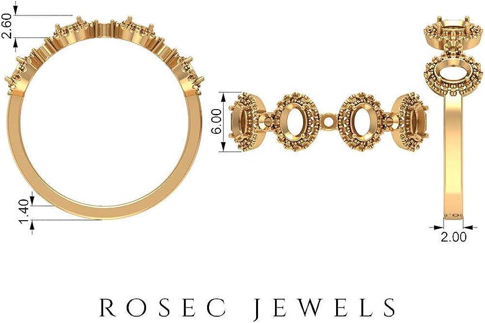 Unique Anniversary Ring, Wedding Band Ring, August Birthstone Ring, 0.88 CT Oval Shape Peridot Ring, HI-SI 0.35 CT Diamond Halo Ring, Bridal Ring, 14K Gold