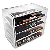 Acrylic Makeup storage case with 4 drawers