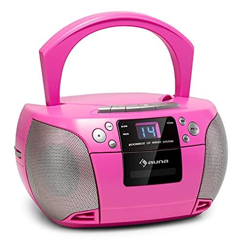 auna Harper - CD Boombox, Reproductor de CD, Bluetooth, Potencia 2 x...
