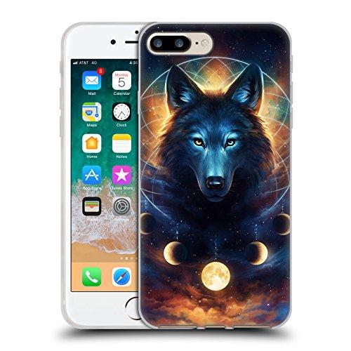 Head Case Designs Ufficiale Jonas JoJoesArt Jödicke Acchiappasogni Lupo Animali Selvatici 2 Cover in Morbido Gel Compatibile con Apple iPhone 7 Plus/iPhone 8 Plus