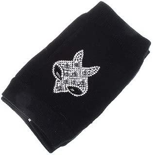 Animals Pattern Skull Winter Rivet Gloves Women Warm Knitted Diamonds Sequins Fingerless Dancing Gloves
